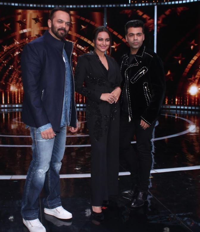 Bollywood: PHOTOS: Sonakshi, Karan Johar and Rohit Shetty glam up on the sets of reality show