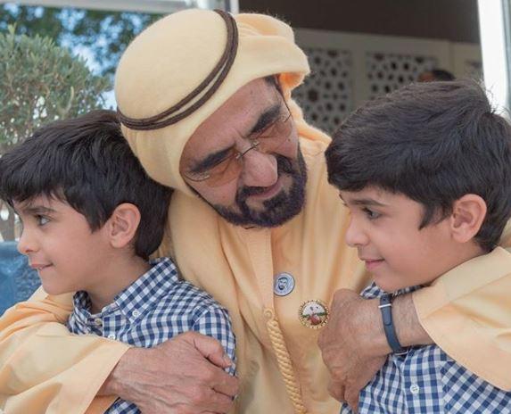 Dubai Ruler's photo with grandchildren of Bahrain's King goes viral