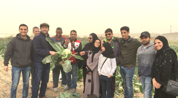 Bahrain Red Crescent Society volunteers visited an agricultural nursery