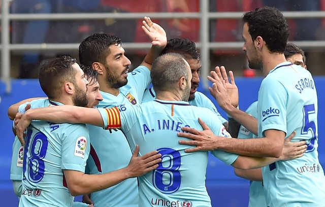 La Liga: Suarez and Alba give Barca win, Valencia stage late comeback