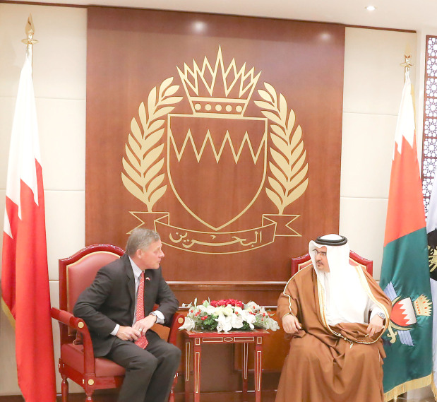 His Royal Highness Prince Salman bin Hamad Al Khalifa, Crown Prince, Deputy Supreme Commander and First Deputy Premier, yesterday received a US delegation, led by Senate Intelligence Committee chairman Senator Richard Burr. He affirmed that the strategic partnership with the US is based on a longstanding legacy of effective communication and co-ordination across various sectors.