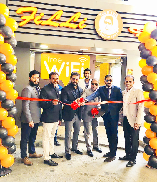 Another outlet for FiLLi Café in Bahrain was opened in Suq Waqif, Hamad Town offering specialty tea, food and beverages. Present at the ribbon-cutting ceremony was FiLLi Café owner Rafih Filli, in addition to members from Epitome Group and Dadabhai Travel. The brand's other outlets can be found in Bab Al Bahrain and LuLu Hypermarket, Riffa. Above, Mr Filli, third from left, with Dadabhai Travel director Aziz Gilitwala, fourth from left, and Epitome Group director Adnan Gilitwala along with representatives.