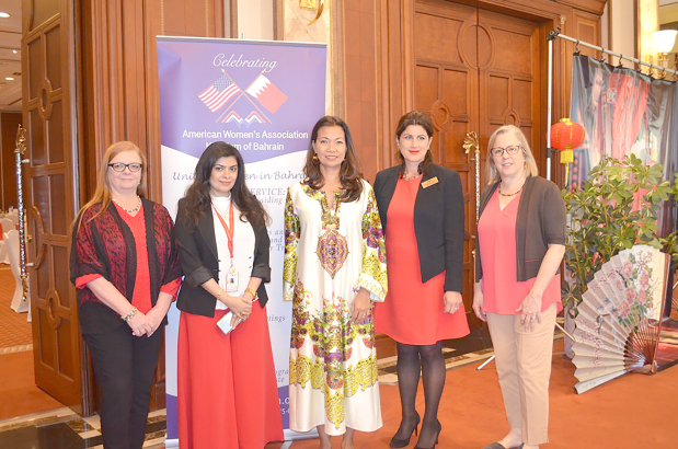 A presentation about eServices provided by the Information and eGovernment Authority (iGA) was held at the American Women's Association's (AWA) monthly meeting. iGA's communications and marketing acting director Lulwa Ebrahim showcased the eServices that could benefit Bahraini women and the expatriate community alike. The meeting was held at the Movenpick Hotel and was attended by AWA members. Above, Ms Ebrahim, second from left, with AWA board members at the event.