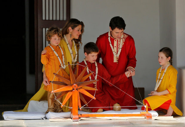 World News: PICTURES: Justin Trudeau and family visits Sabarmati Ashram in Ahmedabad