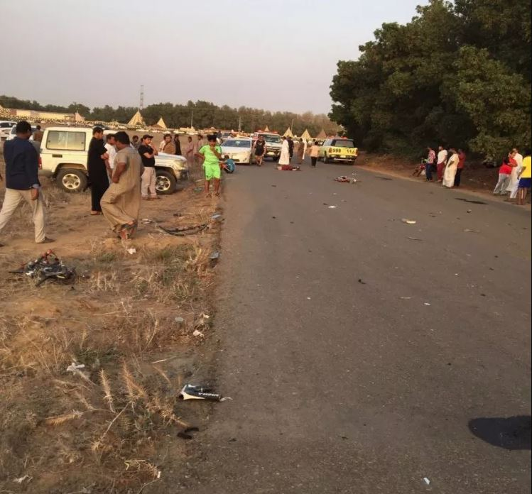 PHOTOS: Four Saudi cyclists killed, six injured in horrific accident