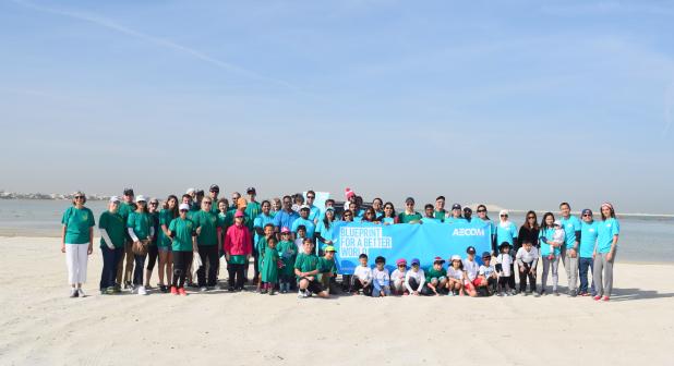 Beach clean-up on Nurana Island