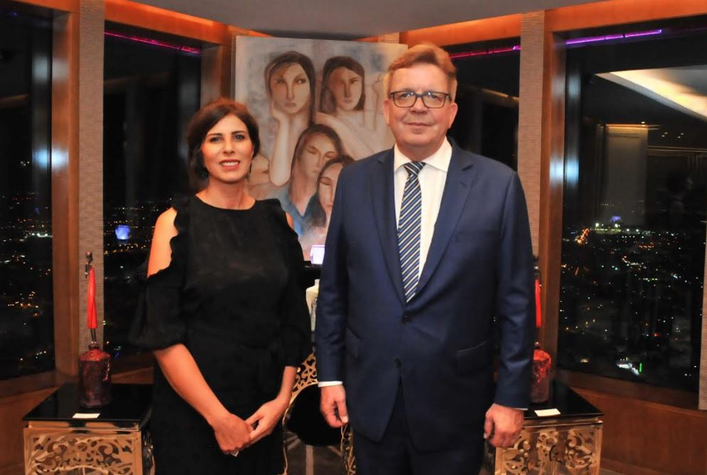 Paintings by German ambassador's wife displayed at exhibition