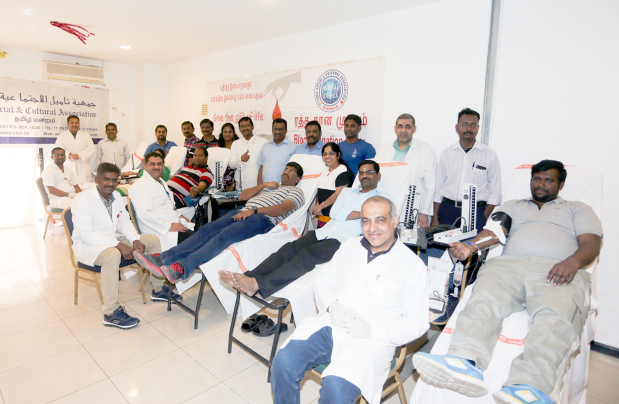 Blood donation by Tamil association members