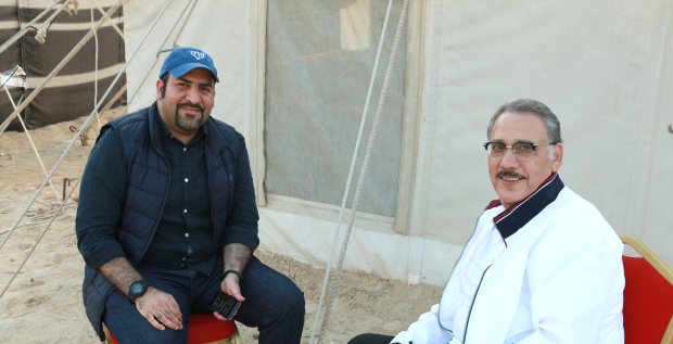 <p><em>Mr Bucheery, right, along with human resources and corporate communications assistant general manager Mohammed Saleh</em></p>