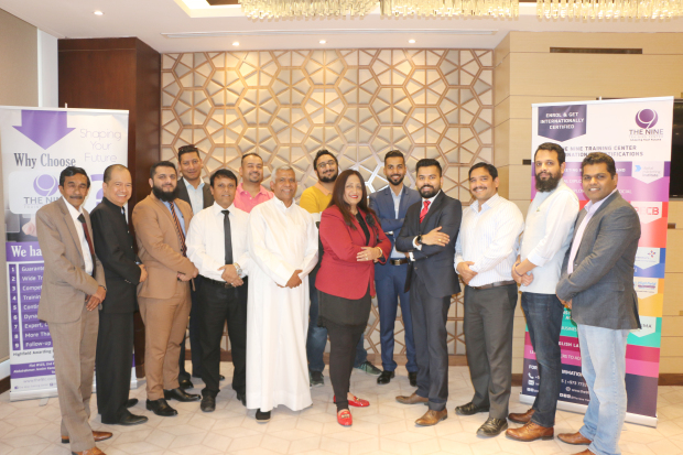 <p><em>Ms Beri with BPTC representatives and course participants</em></p>
