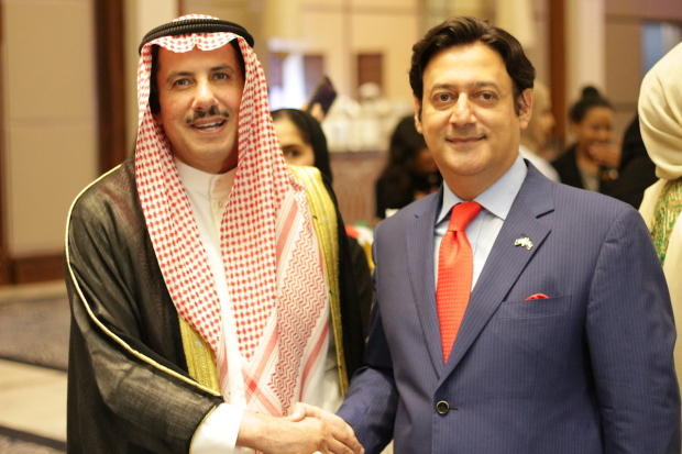 <p>Mr Malik, right, with Shaikh Azzam</p>