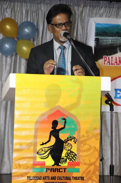<p><em>Dr Panakkal addressing the gathering</em></p>