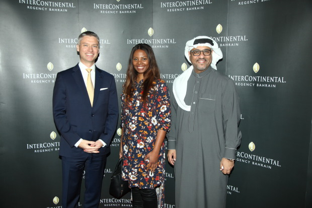 <p><em>Mr Ifcic, left, with hotel manager Mohammed Sanad, right, and a guest</em></p><p>More than 300 guests attended an annual corporate party hosted by the InterContinental Regency Bahrain for clients and partners. </p><div>General manager Jan Ifcic welcomed them to the event which featured a performance by the hotel's band Fever, a violinist and other entertainment and a raffle draw which provided complimentary stays to InterContinental Regency hotels across the region. </div>