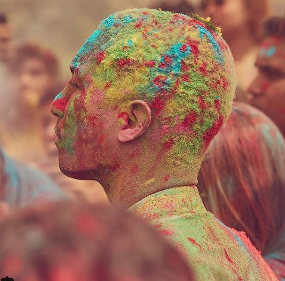 Bollywood: Photos: Pharell Williams enjoys Holi celebrations with Ranveer Singh