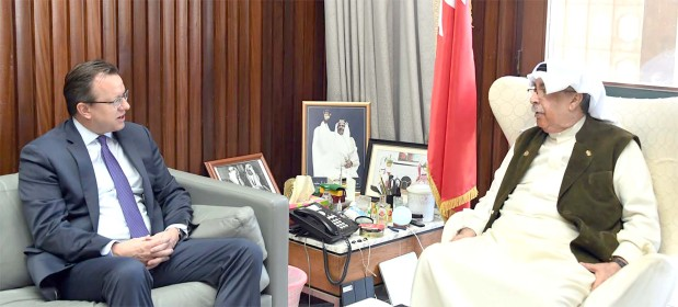 <p>Deputy Prime Minister Jawad Al Arrayed yesterday received US Ambassador Justin Siberell and discussed growing co-operation. He praised the ambassador's keenness to strengthen historic ties between the countries.</p>