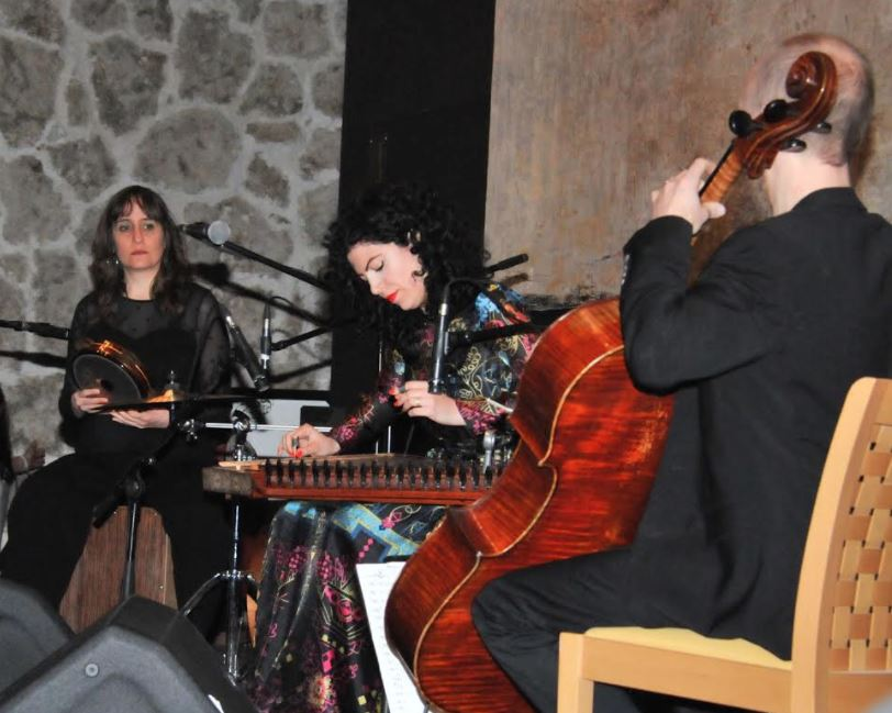 <p>Ms Youssef performs at the Spring of Culture festival</p>