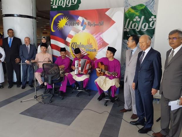 <p>Malaysian musicians perform at Al Jazira</p>
