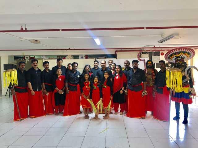 <p>Samskara Thrissur won first prize in the Nadan Pattu (Kerala folk song) competition organised by the Bahrain Keraleeya Samajam Vanitha Vedi at the samajam premises in Segaiya. Above, the Samskara Thrissur group members.</p>