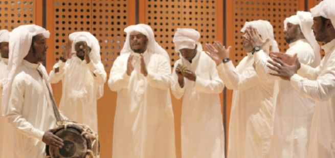 <p>Bahrain's legacy of the pearling trade was highlighted during an event held yesterday at Dar Al Muharraq. It featured live performances highlighting traditional songs performed by Bahraini pearl divers at sea called Fjiri.</p>