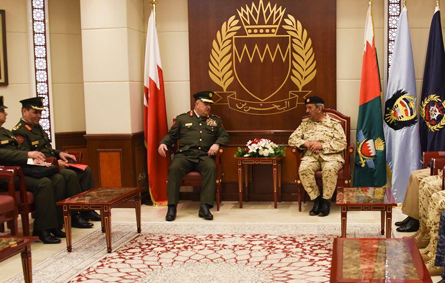 <p><span><span>Commander-in-Chief of the Bahrain Defense Force (BDF), Field Marshal Shaikh Khalifa bin Ahmed Al Khalifa,</span>receivesLieutenant General Mahmoud Fraihat</span></p>