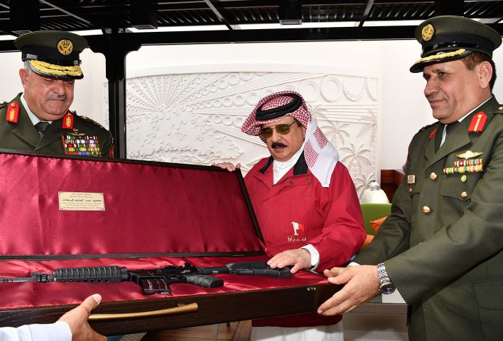 <p>Manama: His Majesty King Hamad yesterday received Jordanian Armed Forces Chief of Joint Staff Lieutenant General Mahmoud Fraihat and his delegation visiting to take part in joint committee meetings.</p><p>The King praised long-standing ties with Jordan, stressing keenness to further bolster them, especially military co-operation.</p><p>He also praised Jordan's role, led by King Abdullah, in supporting Arab and Islamic issues and contributions in supporting security, stability and peace in the region.</p>