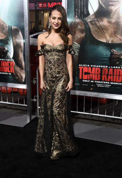 Hollywood: PICTURES: 'Tomb Raider' reboot tests Oscar-winner Vikander's star power