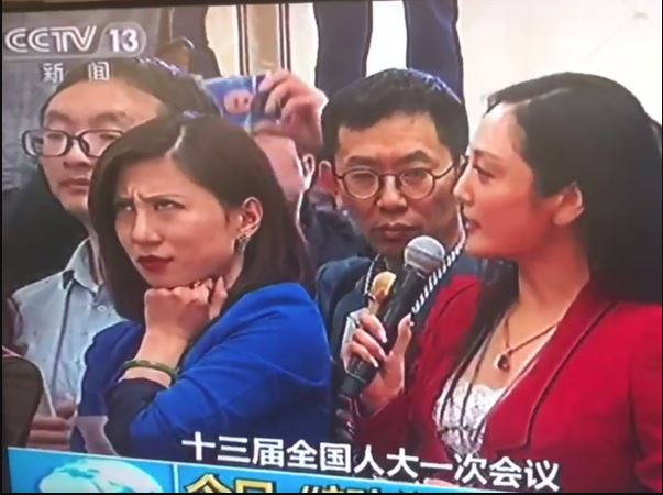 Video: Reporter's eye-roll steals spotlight at Chinese parliament