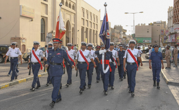 <p>A ceremony was held yesterday in Muharraq to celebrate Community Partnership Day, which falls on Sunday. The governorate and Muharraq Police Directorate co-organised the event, which featured parades performed by the Interior Ministry's directorates. The police music band and the scouts team affiliated with the Education Ministry also took part. Muharraq Police director general Brigadier Fawaz Al Hassan addressed the ceremony, stressing the crucial importance of community partnership in protecting society and maintaining its security. He underlined steps taken to deal with complaints through smart applications and social media websites.</p>