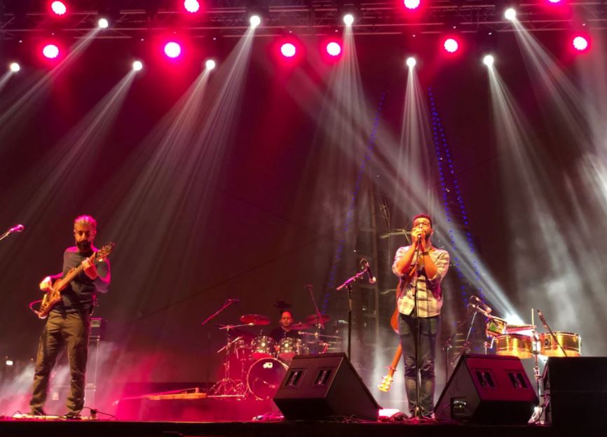 <p>Likwid and Friends on stage tonight at Bahrain Bay for Spring of Culture. Organised by EDB the show saw Bahraini band Likwid collaborate with a number of local artists.</p>