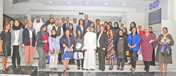 <p>The Bahrain Institute of Banking and Finance (BIBF) hosted a professional business breakfast event in collaboration with Innovative HR Solutions (IHS). It aimed to raise awareness about assessment tools for recruitment and development of staff. The BIBF's Assessment and Development Centre is the only tool in Bahrain offering behavioural assessment alongside personality and aptitude tests. BIBF head of the Assessment and Development Centre Dr Abdulla Al Sada and Innovative HR Solutions managing director Amanda White attended. Above, officials and participants at the event.</p>