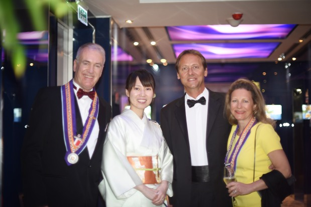 More than 50 dignitaries attended a Chaîne des Rôtisseurs dinner held at the Domain Hotel and Spa's Japanese restaurant, Imari. The theme for the night was Kaiseki Ryori which stands for modern and authentic Japanese haute cuisine. Above, hotel general manager Frank Normann Eikeland, left, along with other Chaine members.