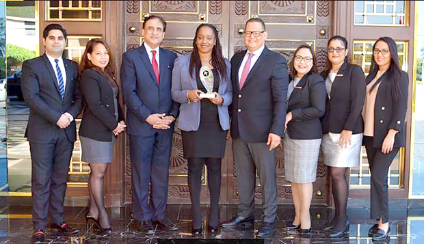 <p>The Ritz-Carlton Bahrain won the Elite Award 2017 for Catering Sales Excellence 'Team of the Year'. It was selected from 300 premium and luxury hotels in the Middle East and Africa. The annual award recognises hospitality leaders and sales teams for their industry leadership, superior customer services, outstanding revenue and community involvement. Above, with the award are, from left, Catering Conference Services (CCS) co-ordinator Ahsan Tanwir, catering sales manager Pricilla Tabiolo, catering director Sanjiv Prabhu, CCS director Tamara Davis, hotel sales and marketing executive assistant manager Soufiane Elallam, CCS executives Rochelle Ramilla and Angela D'silva and wedding sales manager Meryem Rodriguez.</p>