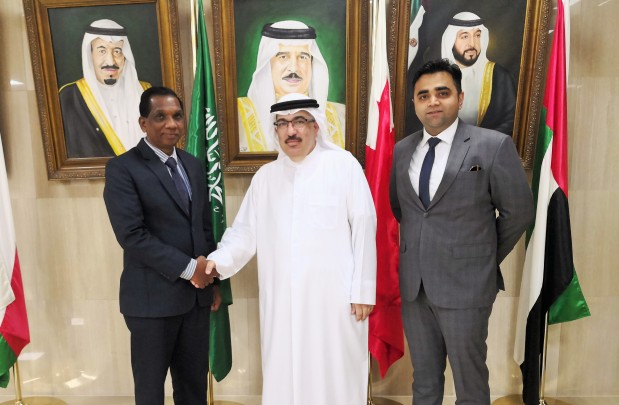Bahrain Financing Company (BFC) entered into a partnership deal with the Arabian Gulf University (AGU) to allow students to make their academic and conference fee payments through BFC branches. The service will also be available on BFC's online platform Smart Money making it even more convenient for students to pay their fees. Above, at the agreement signing at BFC's headquarters in Manama are, from left, BFC Bahrain general manager Pancily Varkey, AGU finance director Hisham Ali Alansari and BFC corporate business development manager Roger Menezes.