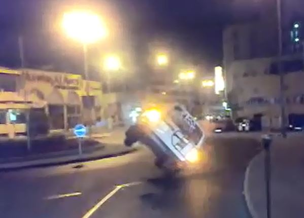 Old video emerges of a car performing a dangerous stunt in Bahrain