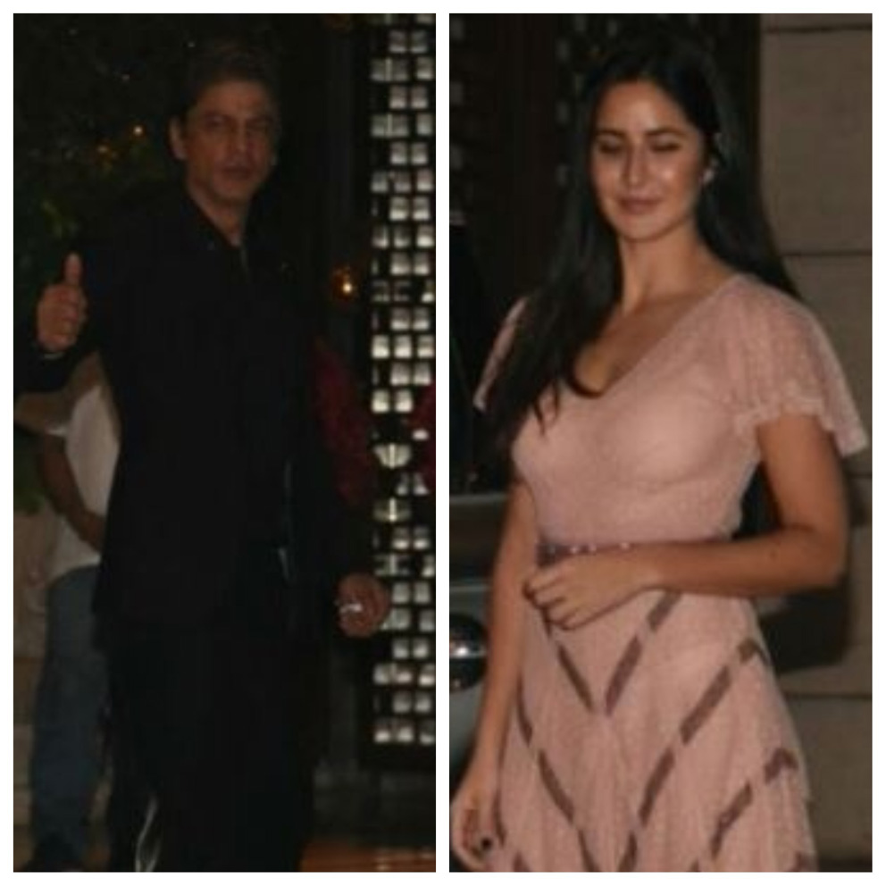 SRK and Katrina at Ambani residence to congratulate Akash Ambani and Shloka Mehta