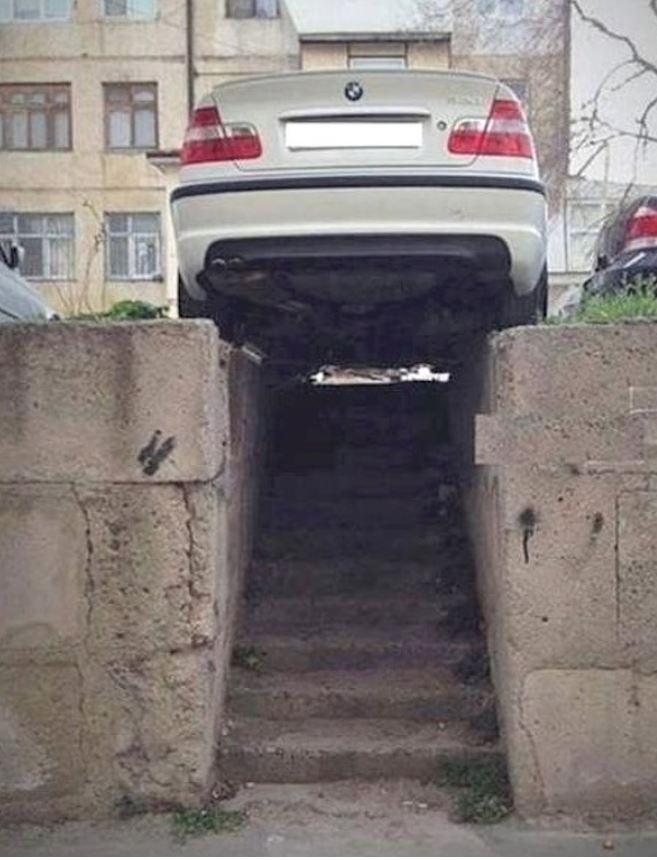 Photos: These drivers have special parking skills!