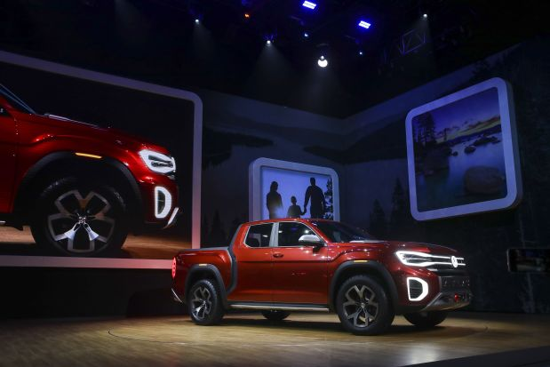 VW unveils concept pickup truck at New York auto show