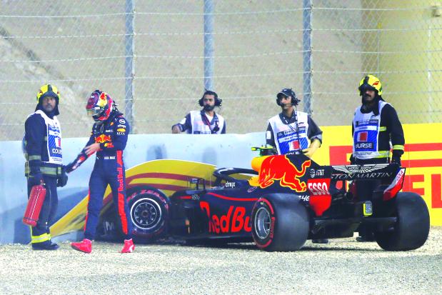 Verstappen blames power surge for crash
