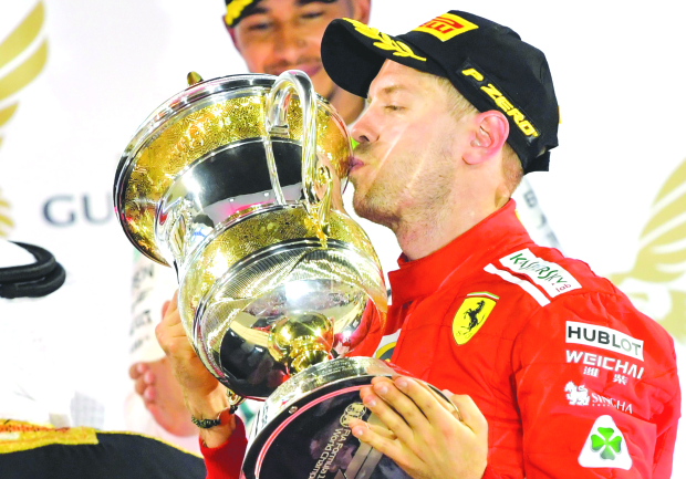 Its' Vettel all the way