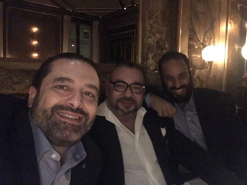 Photo: Lebanese Premier, Saudi Crown Prince and Moroccan King take a selfie