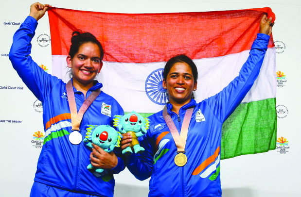 Shooters and wrestler boost India's gold medal tally to 17