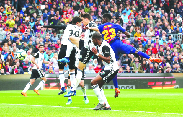 BACK ON TRACK: Barca extend unbeaten run to close in on title