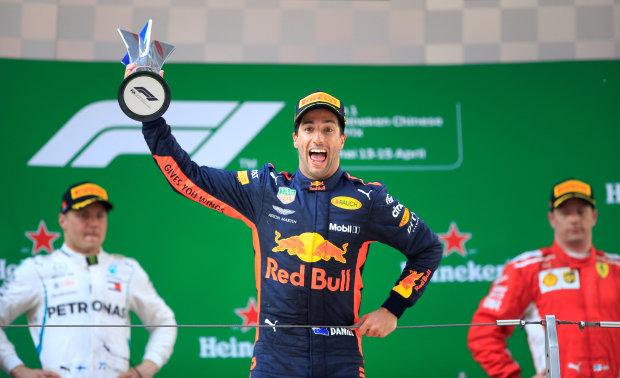 Red Bull's Ricciardo celebrates surprise victory in China