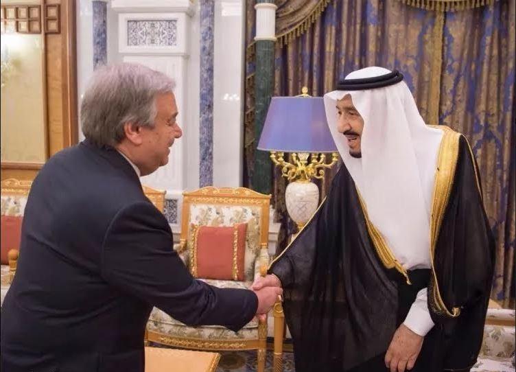 Saudi King meets UN Chief Antonio Guterres