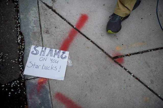Starbucks CEO says arrests of two black men 'reprehensible'
