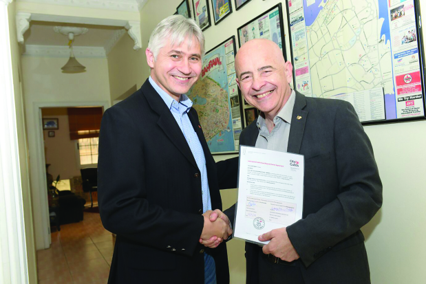 UK's City & Guilds in key partnership accord with SOS
