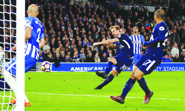 English Premiership: Spurs held by gutsy Brighton