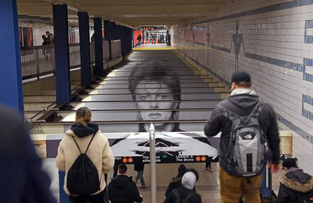 Celebs: PHOTOS: Bowie's New York subway station turns into museum to him