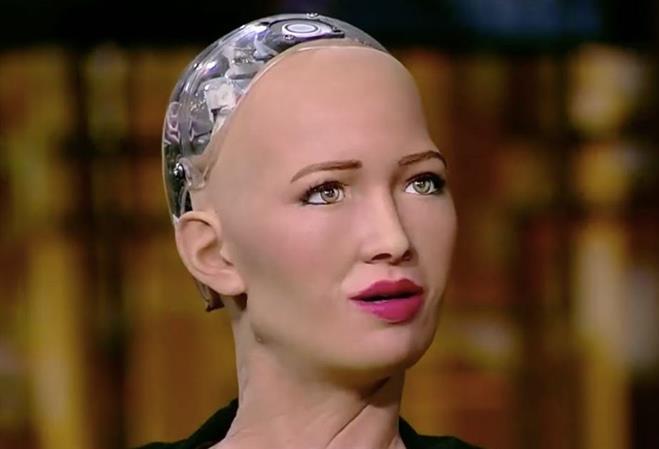 Etihad Airways host Sophia the robot