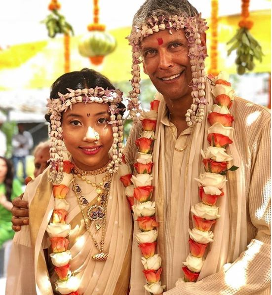 Photos & Videos: Former supermodel Milind Soman marries girl 25 years younger than him